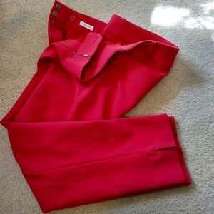 LIKE NEW Loft Red Riveria Marisa Crop Pant 4P